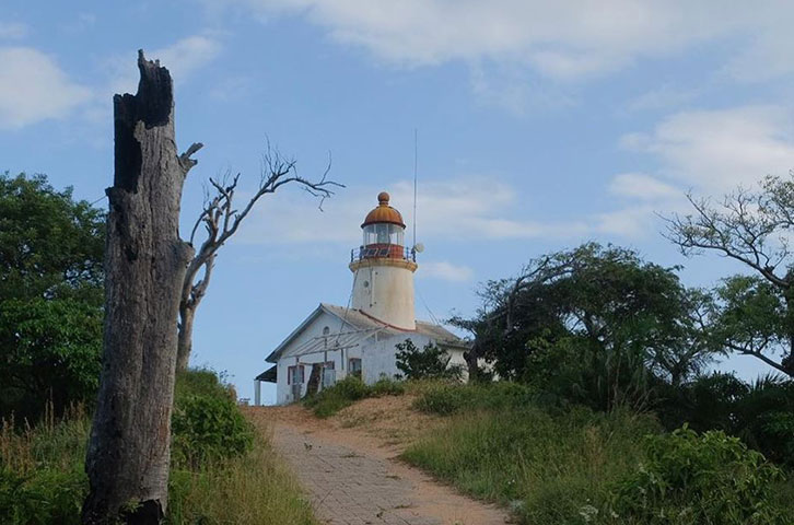 Lighthouse at the mouth of the Limpopo River